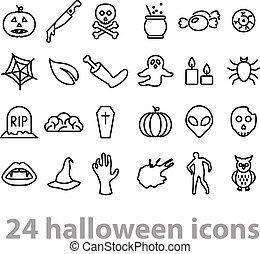dia das bruxas, twentyfour, cobrança, ícones