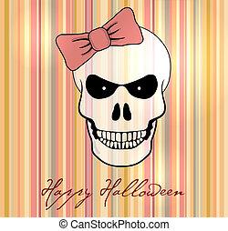 dia das bruxas, vetorial, cartão, /, experiência.