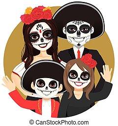 Dia de los Muertos Family