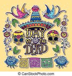 Day of the Dead design template - Dia de los Muertos or Day...