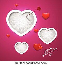 dia dos namorados, abstratos, fundo, cartão cumprimento, desenho