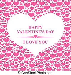 dia dos namorados, cartão, com, corações, ligado