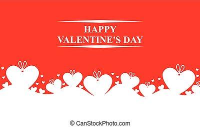 dia dos namorados, cartão, com, presentes, corações