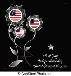 dia, estados, unidas, américa, independência