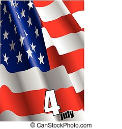 dia independência, julho, uni, 4th