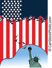 dia independência, julho, uni, %u2013, 4th