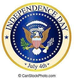dia, independência, selo