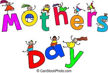 dia mães, crianças