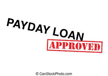 dia pagamento, empréstimo, aprovado