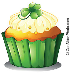 dia, st., patrick's, gostosa, cupcake