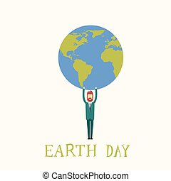dia terra, homem, ter, globo, mundo