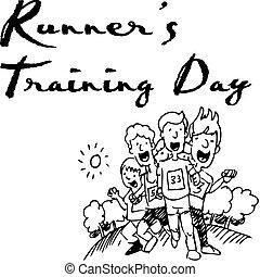 dia treinamento, corredores