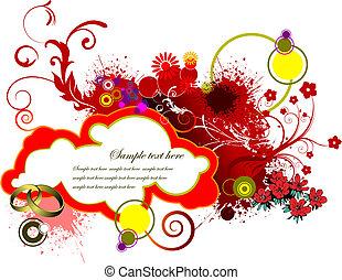 dia valentineçs, saudação, card., vetorial, ilustração