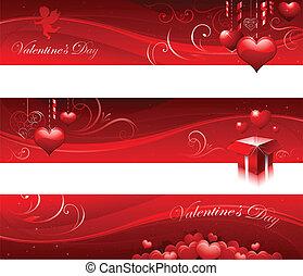 dia valentine, bandeiras