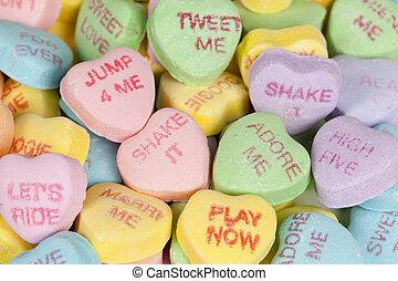 dia valentine, coração, doce