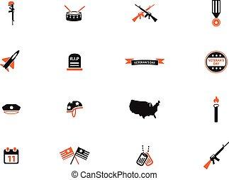 dia veterans, simplesmente, ícones