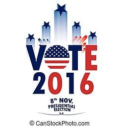 dia, vetorial, eleição, ilustração