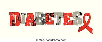 Diabetes Concept Stamped Word Art Illustration