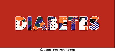 Diabetes Concept Word Art Illustration