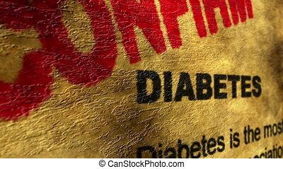 Diabetes confirm grunge concept