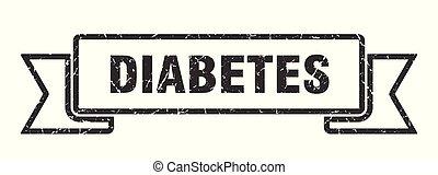 diabetes grunge ribbon. diabetes sign. diabetes banner