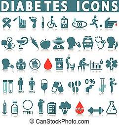 Diabetes icon set