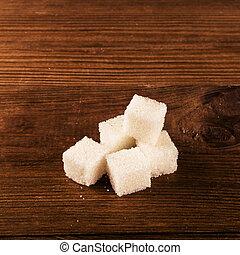 Diabetes is terrible disease. A lot of sugar cubes