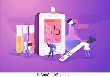 Diabetes mellitus concept vector illustration