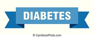 diabetes ribbon. diabetes isolated sign. diabetes banner