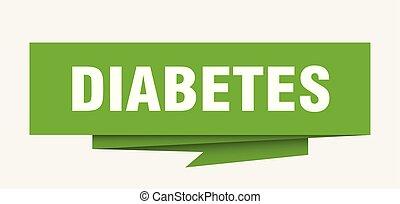 diabetes sign. diabetes paper origami speech bubble....