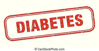 diabetes stamp. diabetes square grunge sign. diabetes