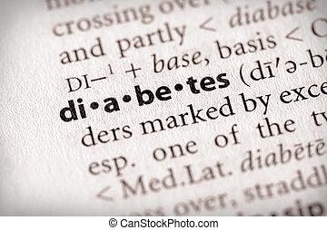 "Diabetes - Selective focus on the word \\\""diabetes\\\""...."