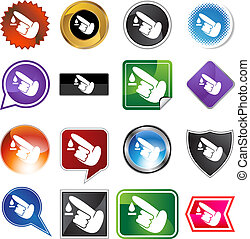 Diabetes Test icon set