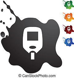 Diabetes Test Monitor - Diabetes Blood Test Monitor icon set