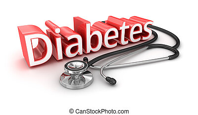 Diabetes text, 3d medicical Concept