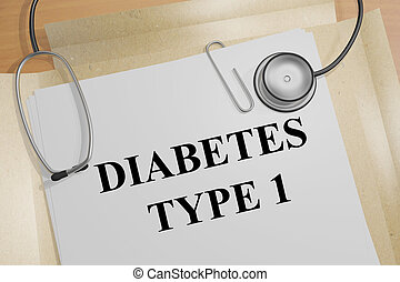 Diabetes Type 1 concept - Render illustration of Diabetes...