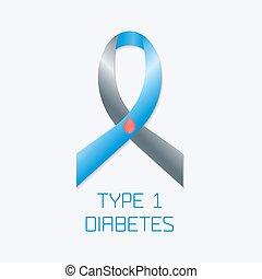 Diabetes Type 1 ribbon