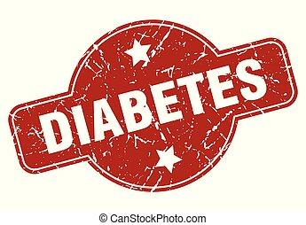 diabetes vintage stamp. diabetes sign