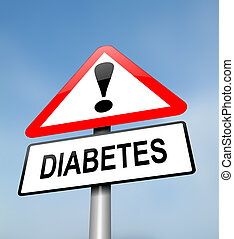 Diabetes warning. - Illustration depicting a red and white ...