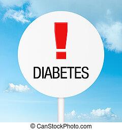 Diabetes warning road sign