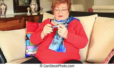 Diabetes woman patient