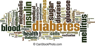 Diabetes word cloud concept. Vector illustration