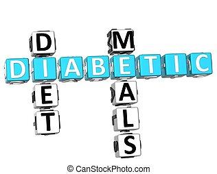 Diabetic Diet Meals Crossword - 3D Diabetic Diet Crossword ...