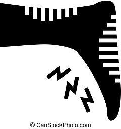 diabetic foot care glyph icon vector illustration