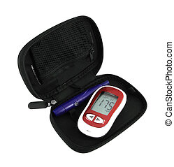 Diabetic Glucometer Blood sugar or glucose level testing kit...
