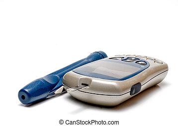 Diabetic Meter - A diabetics test meter and finger prick ...