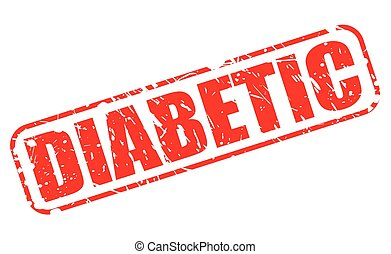 DIABETIC red stamp text