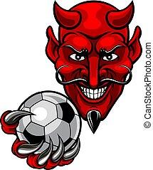 diable, football football, mascotte