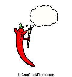 Poivre diable piment chaud dessin anim poivre - Dessin piment ...