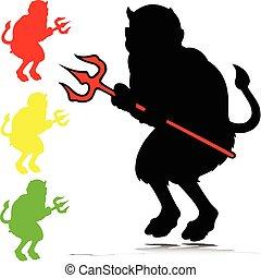 diablo, vector, ilustración